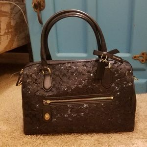 Limited addition Poppy Coach sequin bag